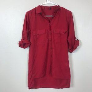 🌞4/$35  YMI hi low button down blouse